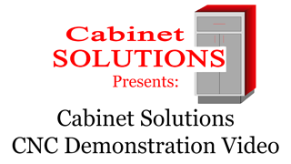 This is a quick demonstration of using Cabinet Solutions CNC with EnRoute