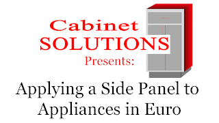 Howto: Applying a Side Panel to Appliances in Euro