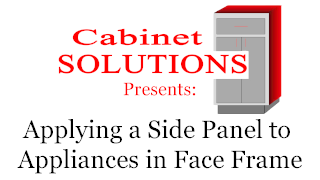 Howto: Applying a Side Panel to Appliances in Face Frame