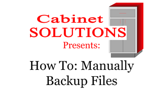 Howto: Manually Backup Your Files